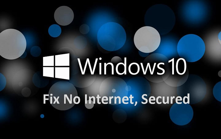 no internet secured windows 10 command prompt